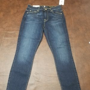 7 for all mankind high waist skinny jeans NWt 26
